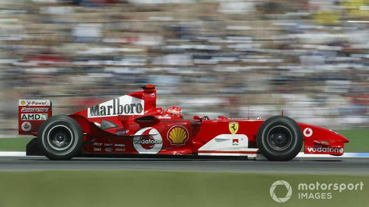 Michael Schumacher driving Ferrari F2004 German GP 2004