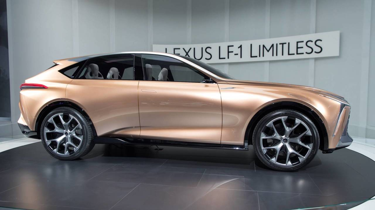 The Lexus LF-1 concept from the side