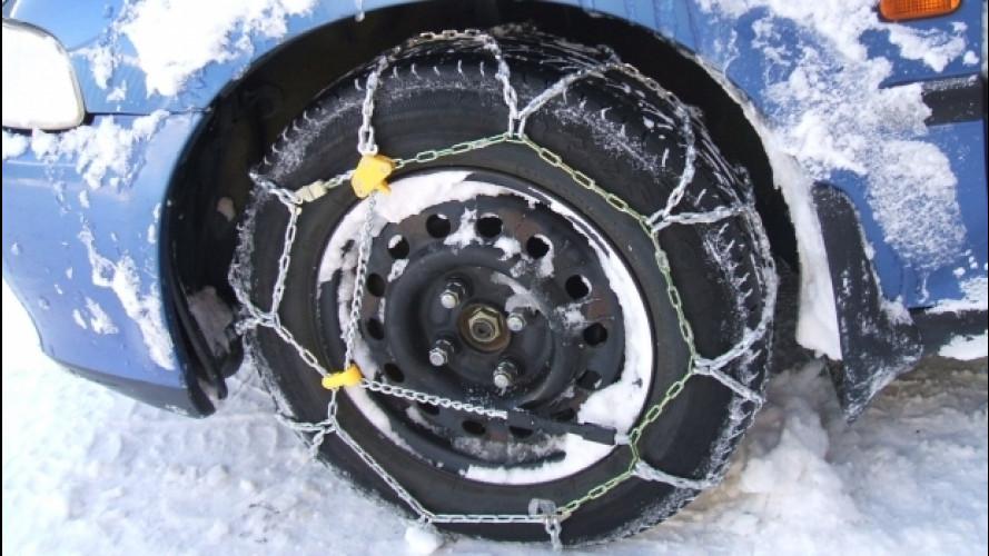 Catene da neve, 5 cose da sapere in caso di ghiaccio o neve