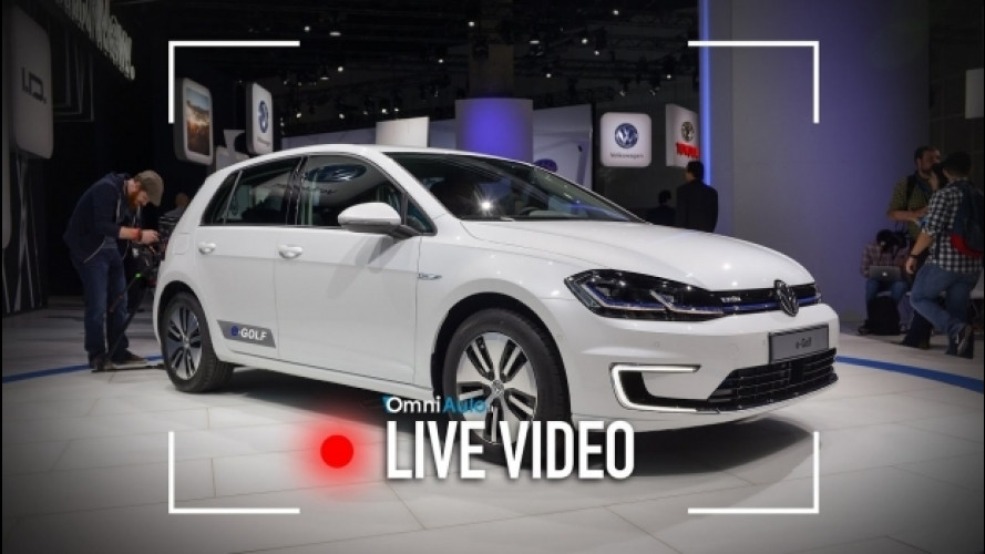 Volkswagen e-Golf, il restyling in diretta da Los Angeles [VIDEO]