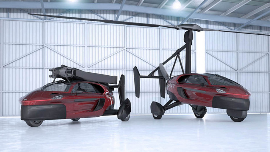 'World first' production flying car landing at Geneva motor show