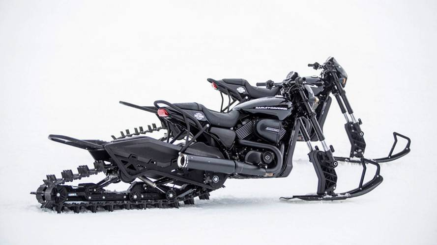 Harley-Davidson Hits The Slopes With Street Rod Snow Bikes
