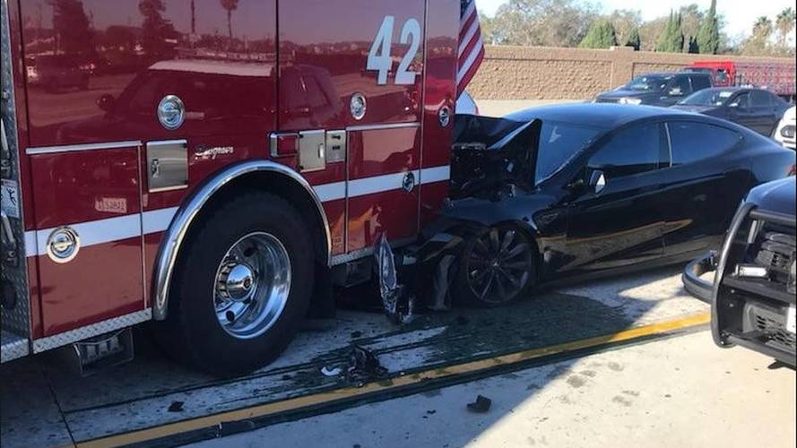 Tesla Model S Crashes Into Back Of Fire Truck, Driver Blames Autopilot