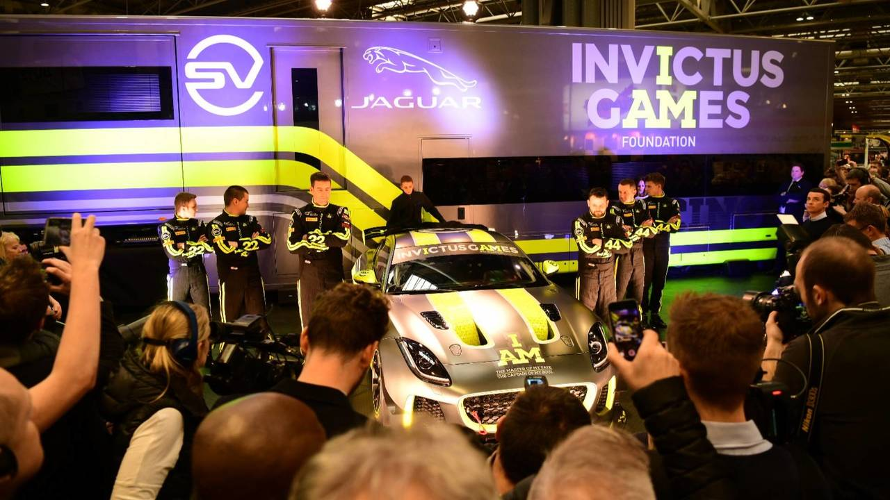 Invictus Games Racing Jaguar F-Type