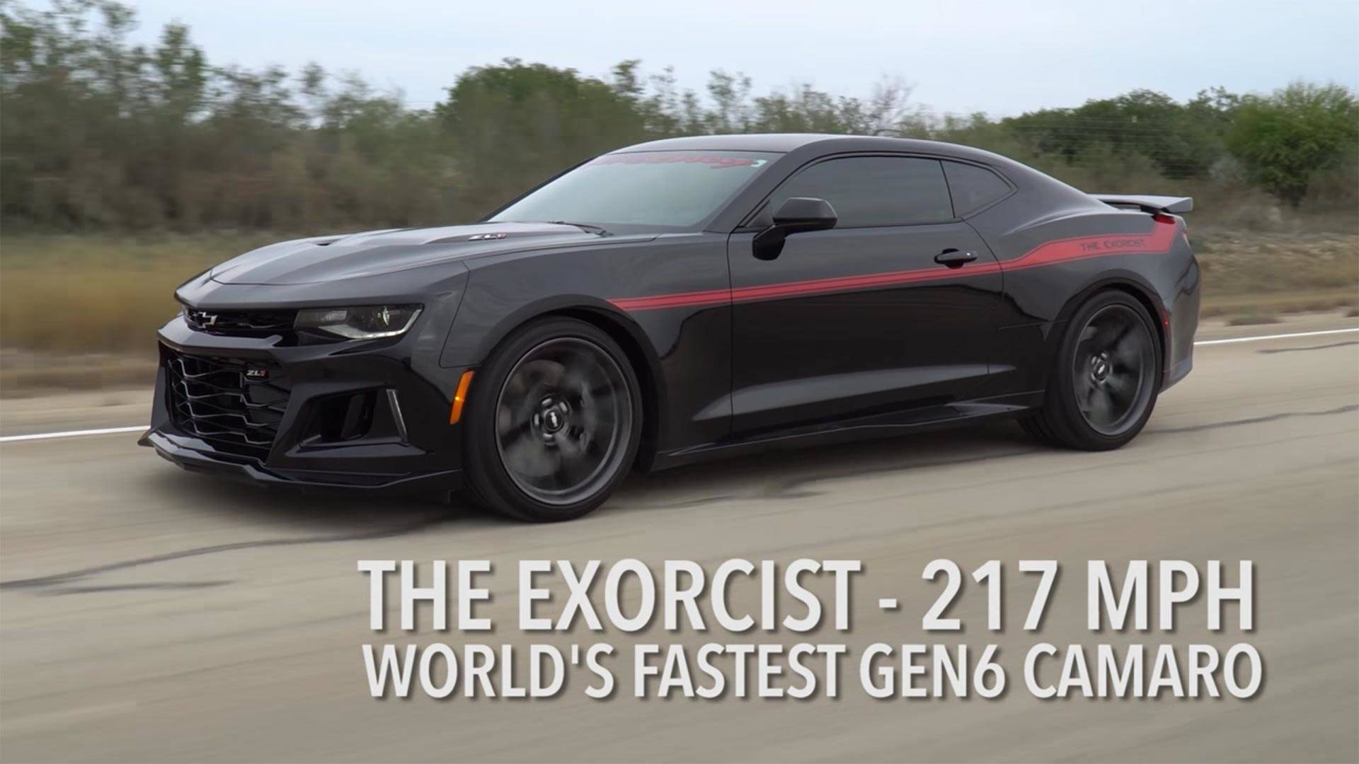 Watch Hennessey's Exorcist Camaro Unleash Its 217-MPH Top ...