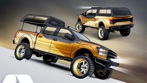 Custom Ford F-150s for 2016 SEMA Show