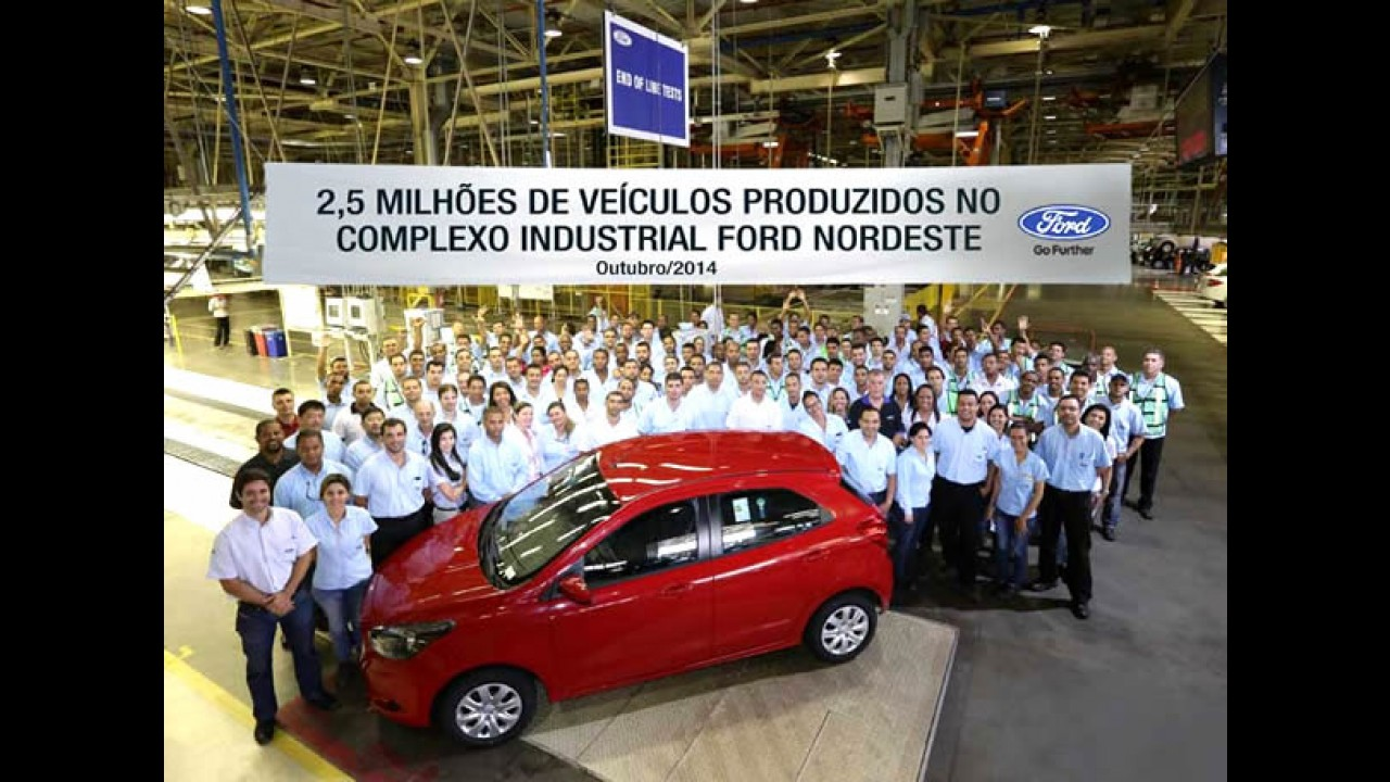 Ford comemora 2,5 milhões de veículos produzidos em Camaçari - BA
