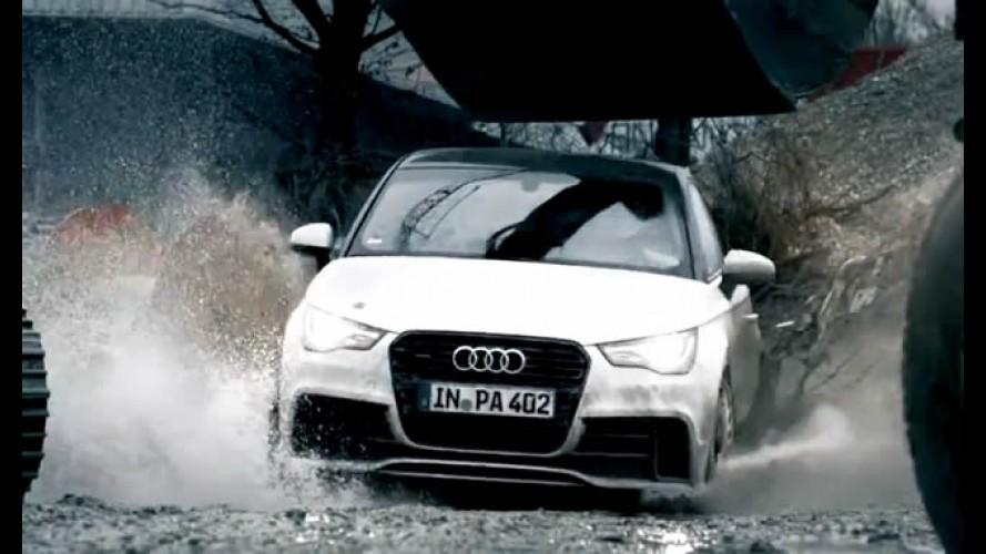 Vídeo: Fazendo drift com um Audi A1 quattro