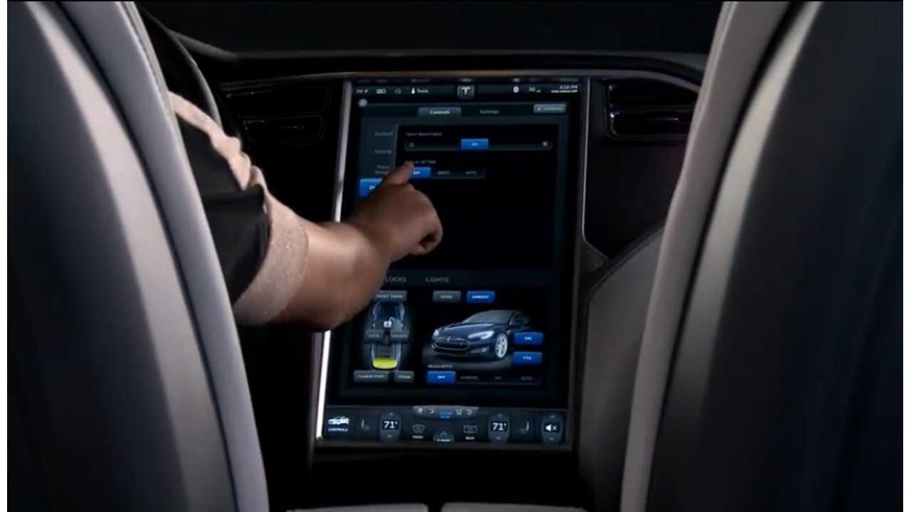 tesla model s touchscreen dash
