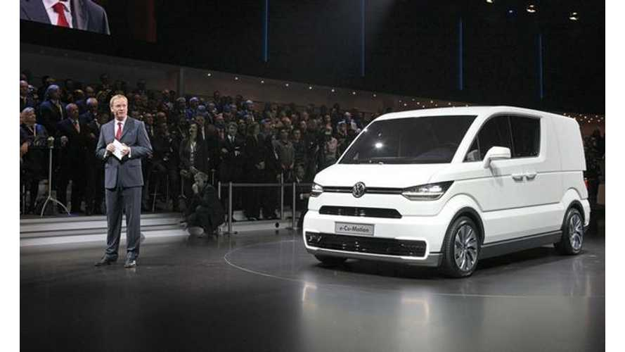 Volkswagen e-Co-motion Electric Van Hits the Stage in Geneva