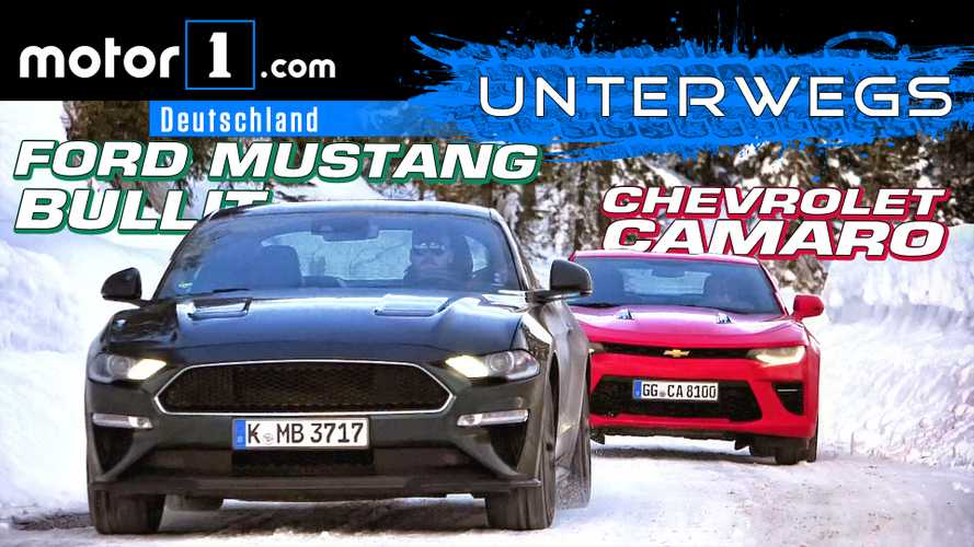 Video: Ford Mustang Bullitt  (2019) vs. Chevrolet Camaro im Test