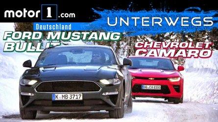 Video: Ford Mustang Bullitt  (2019) vs. Chevrolet Camaro im Test