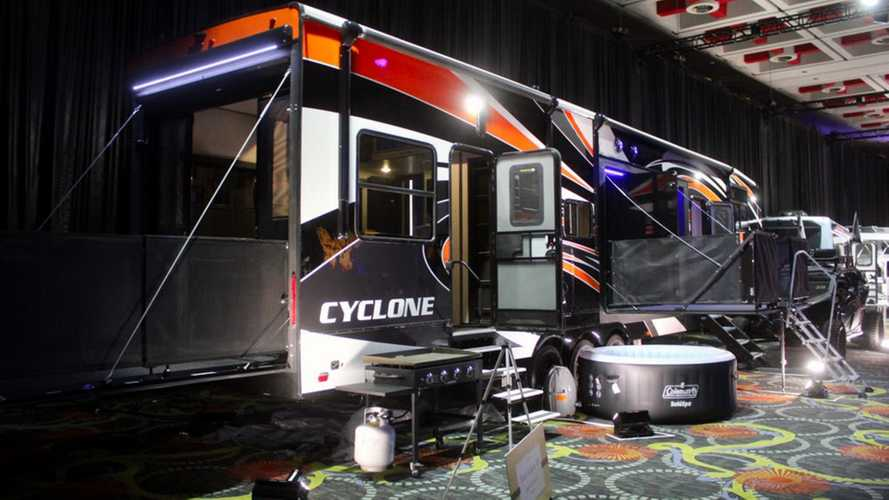 This 44-Foot Cyclone RV Trailer Takes Tailgating To The Extreme
