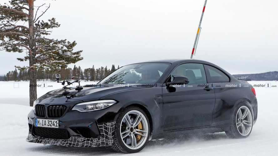 2020 BMW M2 CS Spied In Snow Wearing A Black Suit