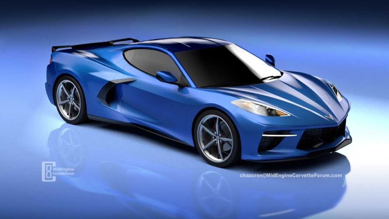 Mid-Engined Chevrolet Corvette Rendering