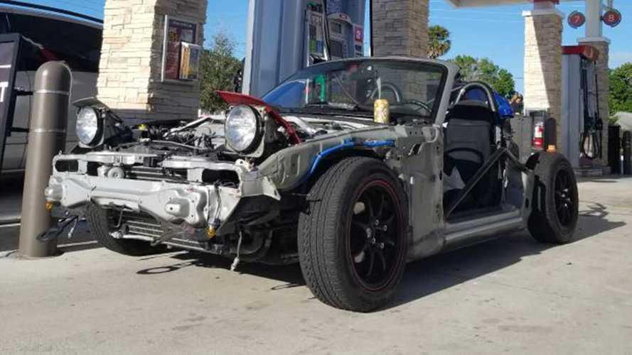 Mazda Miata Kart Looks Dangerous Even When Standing Still