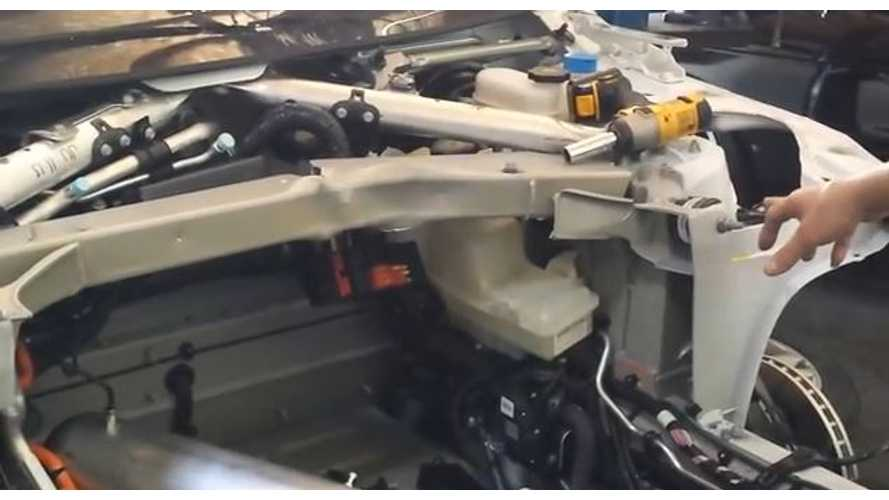 Video: Tesla Model S Teardown After Collision
