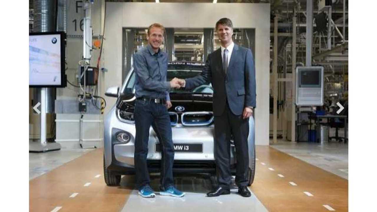 German Marathon Runner Gets First Production BMW i3