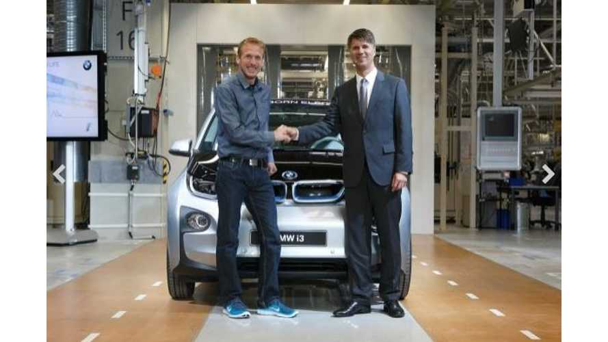 German Marathon Runner Gets First Production BMW i3