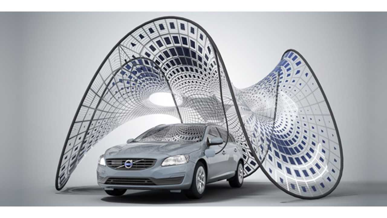 Op-Ed: Volvo's Pure Tension Solar Electric Vehicle Charger is an Absolutely Useless Work of Visually Stunning Art