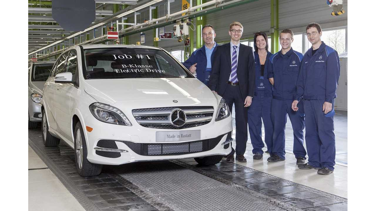 Mercedes-Benz B-Class Electric Drive Enters Production - Job #1 Rolls Off The Line