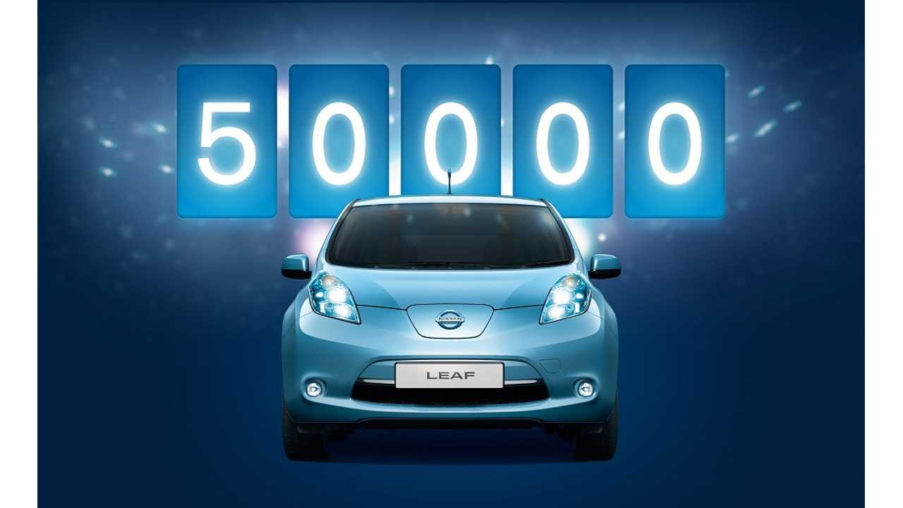 Nissan Passes 50,000 LEAFs Sold Worldwide
