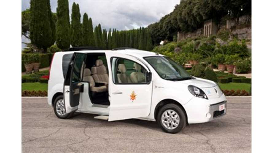 Renault Donates Electric Pope-Mobile (VIDEO)