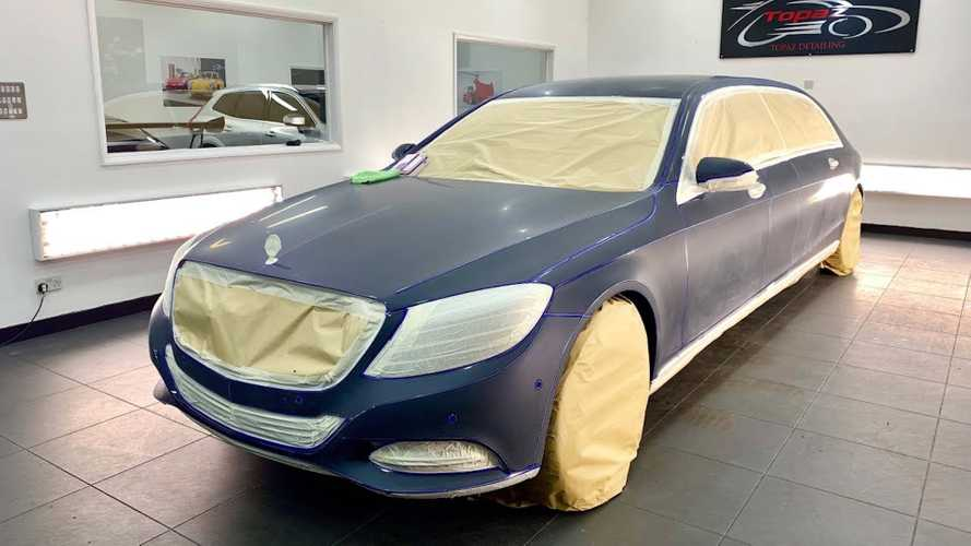 Maybach S-Class Looks Immaculate After 100-Hour Detailing
