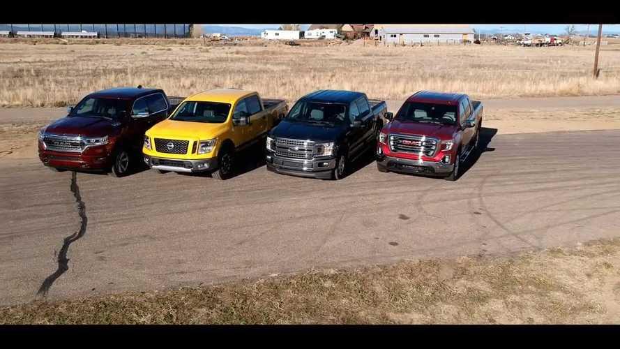 America Duels Nissan Titan In V8 Truck Drag Race