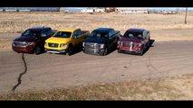 V8 Pickup Truck Drag Race