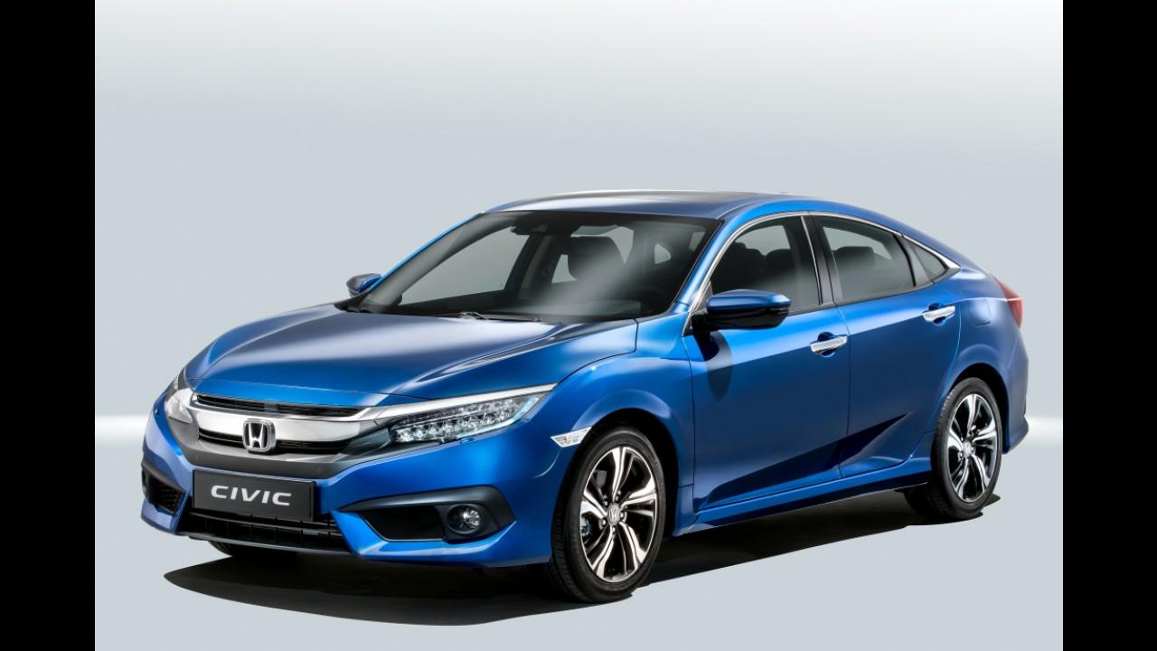 Novo Civic Sedan estreia na Europa com motor 1.5 turbo de 182 cv e opção de câmbio manual