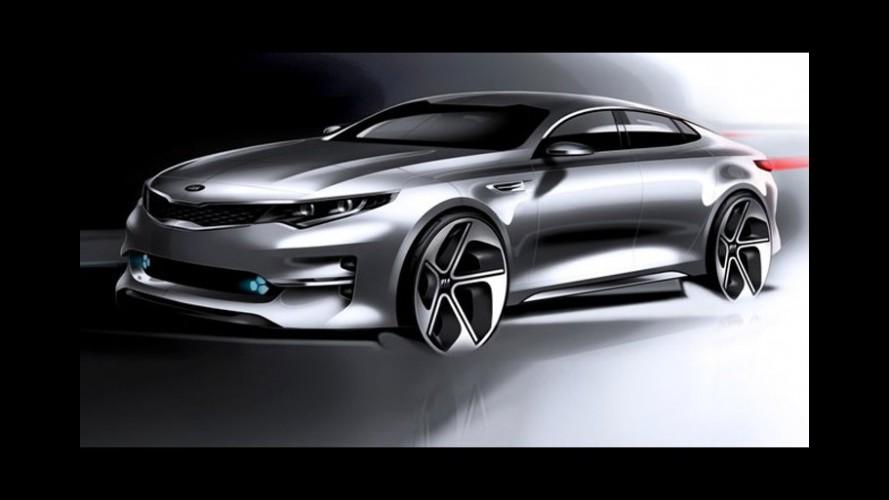Novo Kia Optima será apresentado em abril - veja primeiros sketches