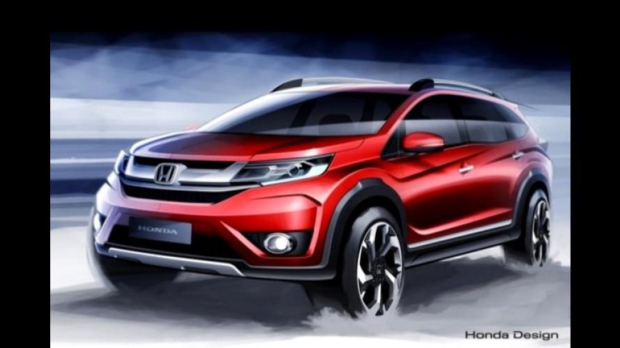 Honda divulga sketches do BR-V, SUV de 7 lugares baseado no Brio