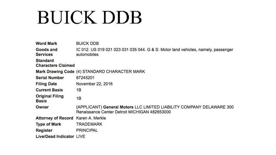 Buick DDB trademark