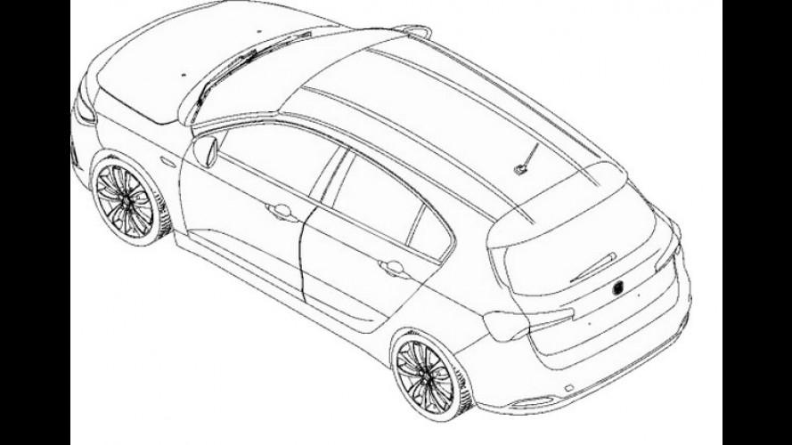 Vazou: novo Fiat Tipo Hatch aparece em imagem de patente