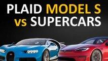 video tesla model s plaid vs high performance rivals