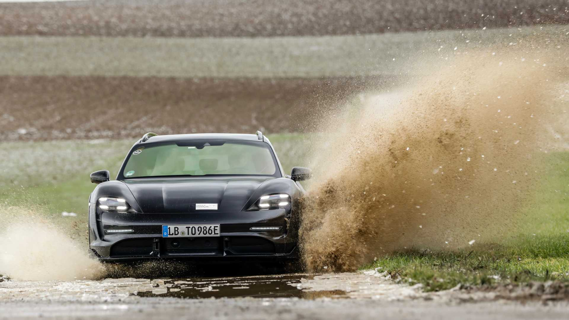 photo of 2022 Porsche Taycan Cross Turismo Hits The Road In New Teaser Video image