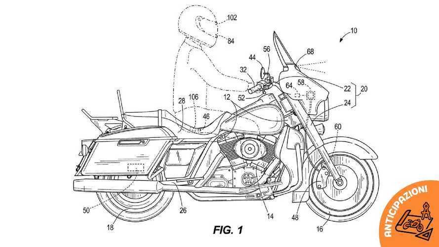 Harley-Davidson brevetta la frenata di emergenza assistita da radar