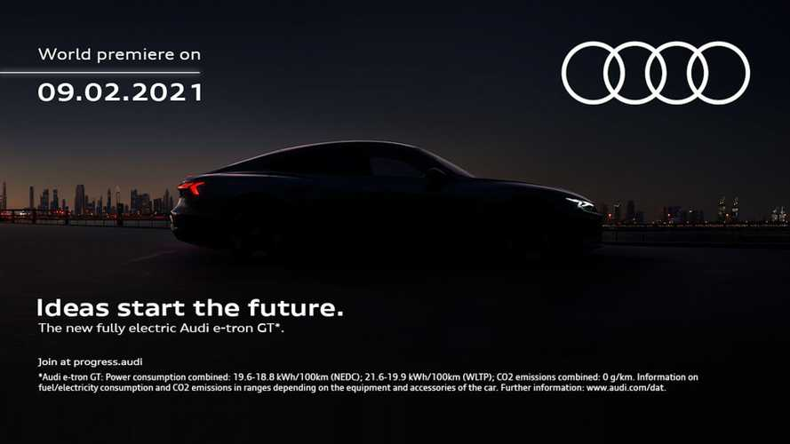 Latest 2022 Audi E-Tron GT Teaser Shadows Sedan In Silhouette