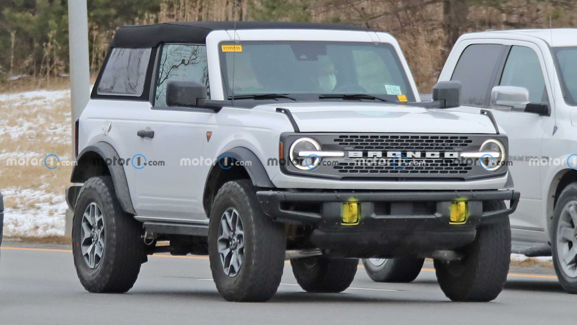Ford Bronco Two-Door Soft Top Spy Photos Three Quarters
