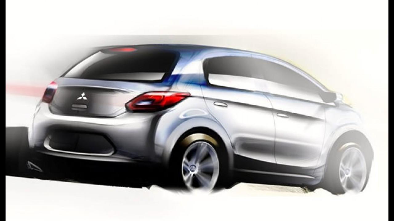 Mitsubishi divulga esboço de novo carro compacto global - Será que chega ao Brasil?