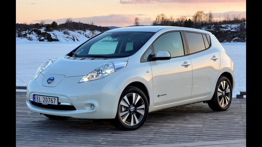 Elétrico no topo: Nissan Leaf foi o modelo mais vendido na Noruega em outubro