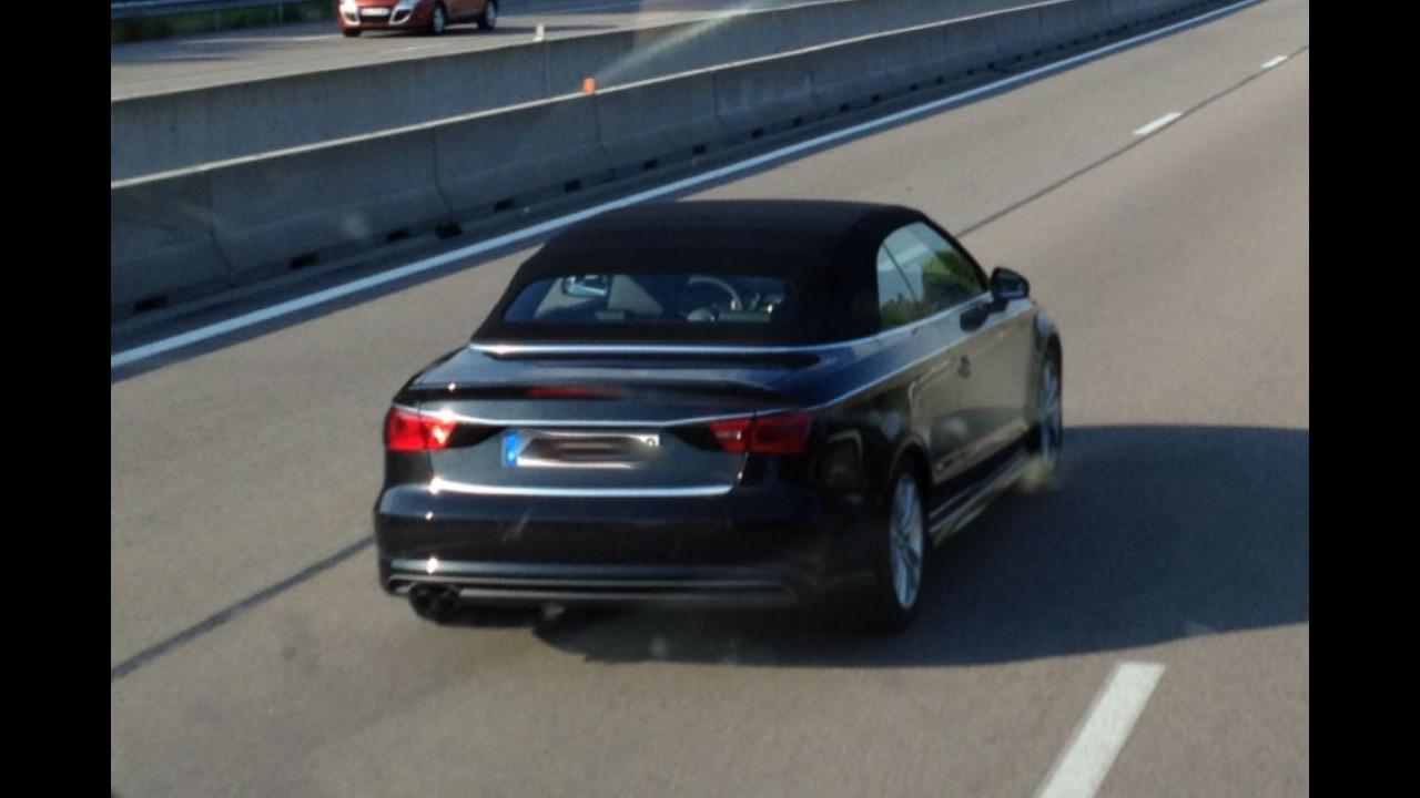 Novo Audi A3 Cabriolet é flagrado com poucos disfarces