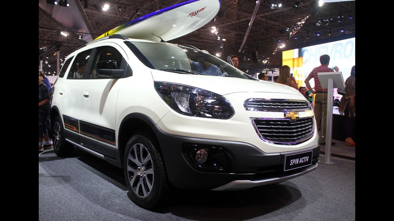 Salão SP: Chevrolet Spin Activ de visual aventureiro chega por R$ 62.060