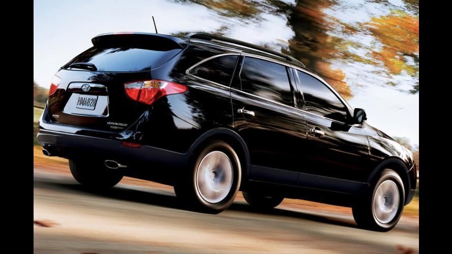 Recall para Hyundai Tucson, Santa Fe e Veracruz