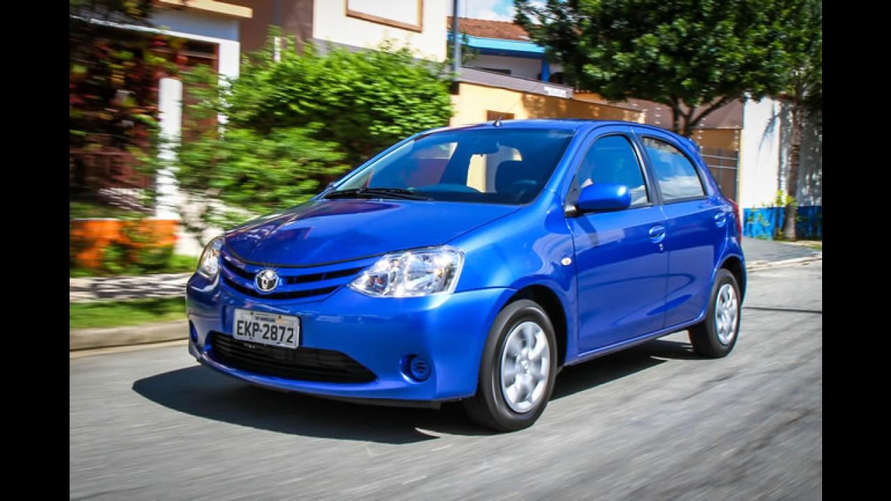 Toyota mantém preços do Etios sem aumento de IPI até 15 de janeiro