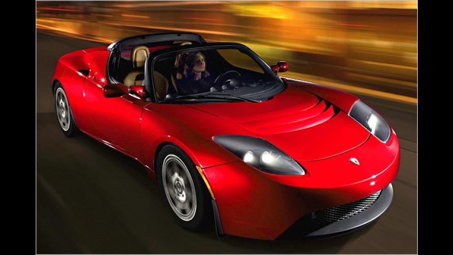 Unter Strom: Der Tesla Roadster (2006) taugt zum Sportwagen