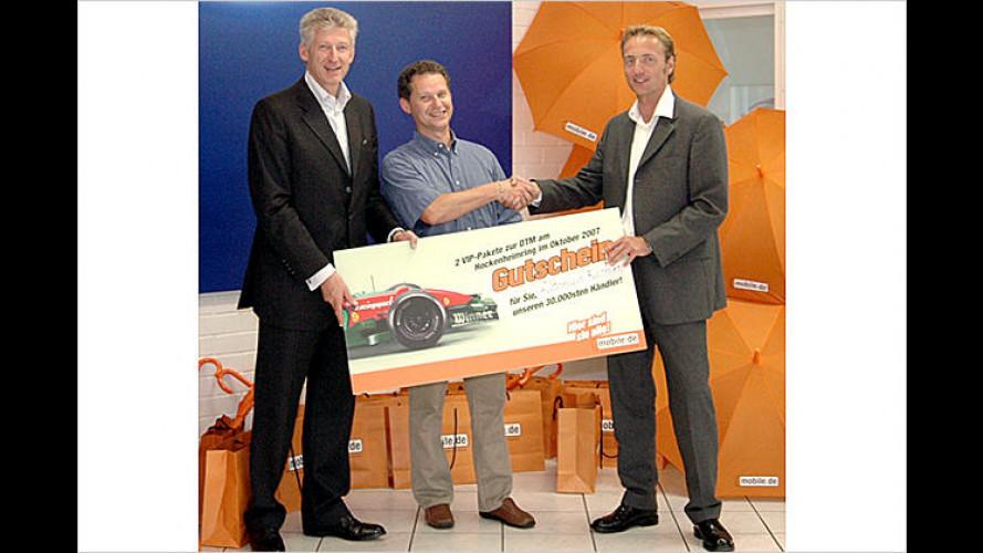 Bei mobile.de sind nun 30.000 Automobilhändler registriert