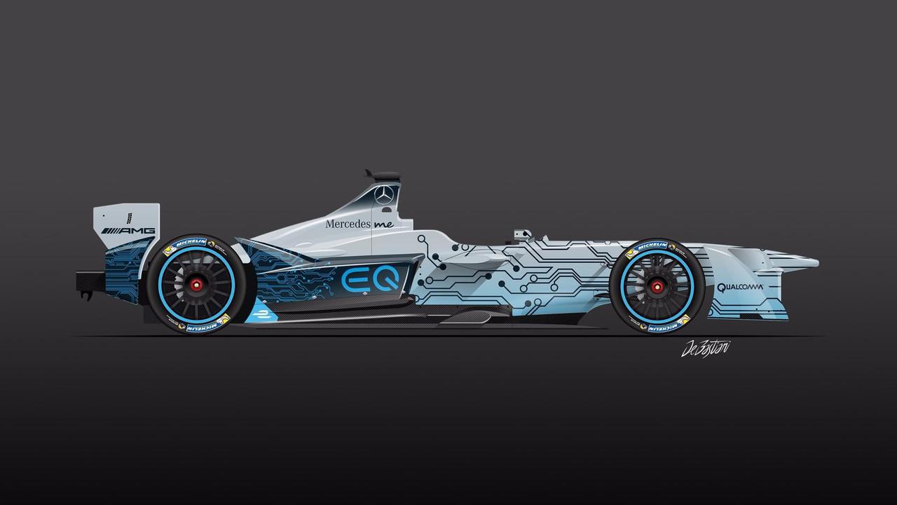 Rendu livrée Mercedes Formule E