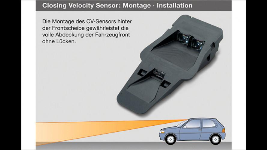 Precrash-Sensor soll Unfälle im Stadtverkehr verhindern